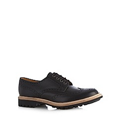 Loake - Black leather lace up brogues