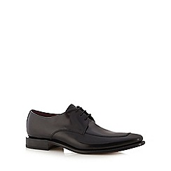 Loake - Black stitched lace up shoes
