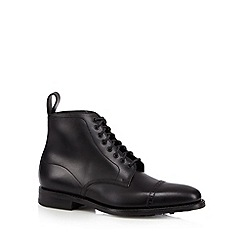 Loake - Black leather lace up boots