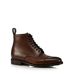 Loake - Dark brown leather lace up boots