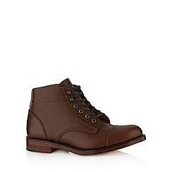 Loake - Brown leather lace up boots