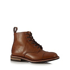 Loake - Brown leather burnished lace up boots