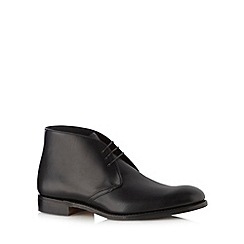Loake - Black classic leather lace up boots