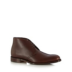 Loake - Brown classic leather lace up boots