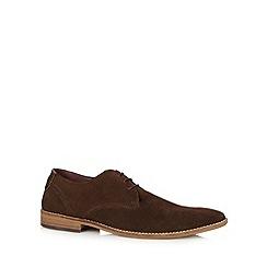 Chelsea Cobbler - Dark brown suede lace up shoes