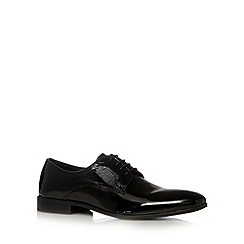 Chelsea Cobbler - Black high shine leather lace up shoes