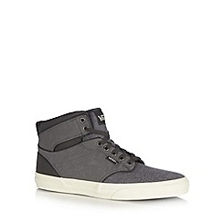 Vans - Grey lace up high-top trainers