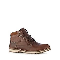 Mantaray - Tan contrasting sole boots