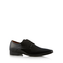 Red Herring - Black high shine leather shoes