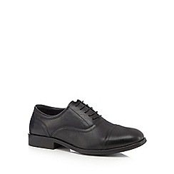 Henley Comfort - Black stitched toe cap shoes