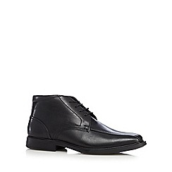 Henley Comfort - Black leather smart lace up boots