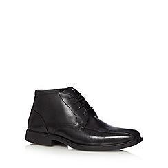 Henley Comfort - Black leather tramline stitched chukka boots