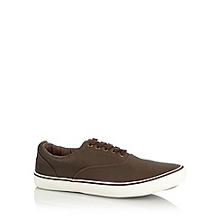 Red Herring - Brown panel lace up trainers