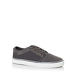 FFP - Grey suede and PU lace up trainers