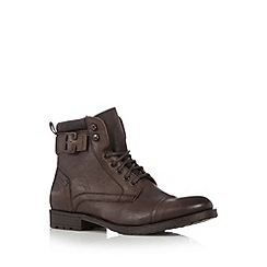 FFP - Chocolate leather mid height work boots