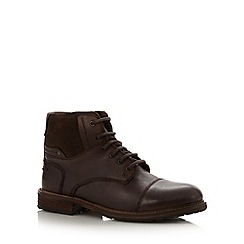 FFP - Brown leather padded boots