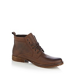 FFP - Chocolate leather lace up boots