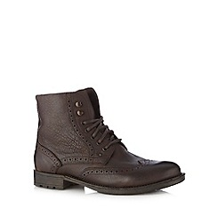 FFP - Chocolate leather brogue boots