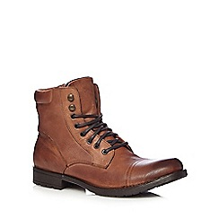 FFP - Tan leather stitched toe cap boots