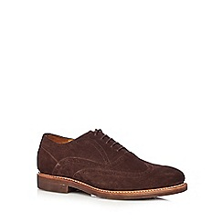 Hammond & Co. by Patrick Grant - Designer chocolate suede leather brogues