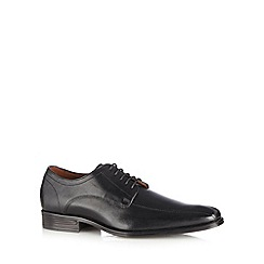 Jeff Banks - Designer black leather 'Airsoft' lace up shoes