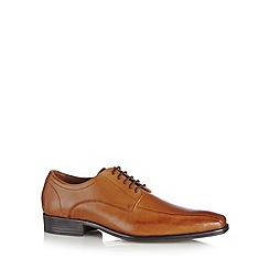 Jeff Banks - Designer tan leather 'Airsoft' lace up shoes