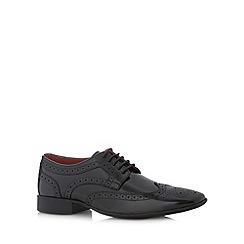 Jeff Banks - Designer black leather lace up brogues