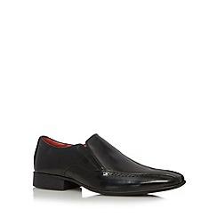 Jeff Banks - Designer black leather punched tramline shoes