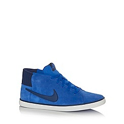 Nike - Blue 'Match' mid suede trainers