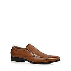 Henley Comfort - Tan leather tramline shoes