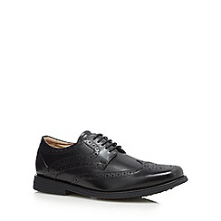 Henley Comfort - Black leather cushioned brogues