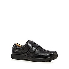 Henley Comfort - Black double strap shoes