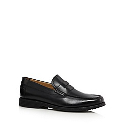 Henley Comfort - Black leather cushioned loafers