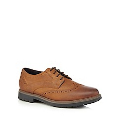 Maine New England - Tan waterproof lace-up brogues