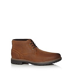 Maine New England - Tan waterproof chukka boots