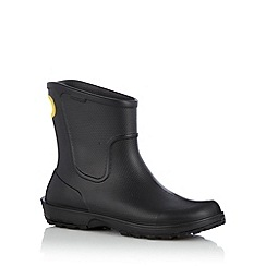 Crocs - Black rain boots