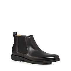 Steptronic - Big and tall black leather chelsea boots