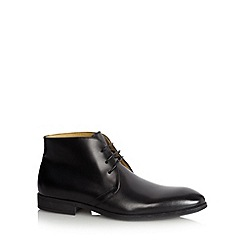 Steptronic - Black leather chukka boots