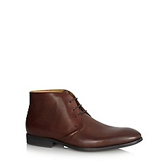Steptronic - Brown leather chukka boots