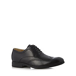 Steptronic - Big and tall black leather lace up brogues