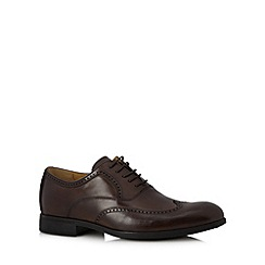 Steptronic - Big and tall brown leather lace up brogues