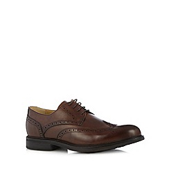 Steptronic - Brown leather punched hole brogues