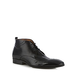 Jeff Banks - Designer black leather lace up boots