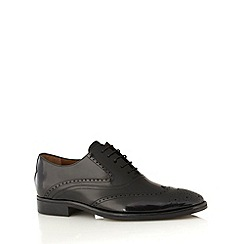 Jeff Banks - Designer black coated leather brogues