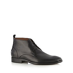Jeff Banks - Designer black chukka boots