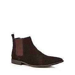 J by Jasper Conran - Designer brown suede chelsea boots