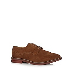 Red Herring - Tan suede lace-up shoes