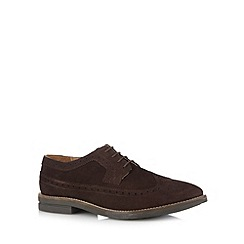 Red Herring - Chocolate suede lace up brogues
