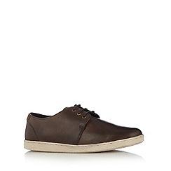 FFP - Chocolate leather plimsolls
