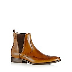 J by Jasper Conran - Designer tan leather brogue chelsea boots
